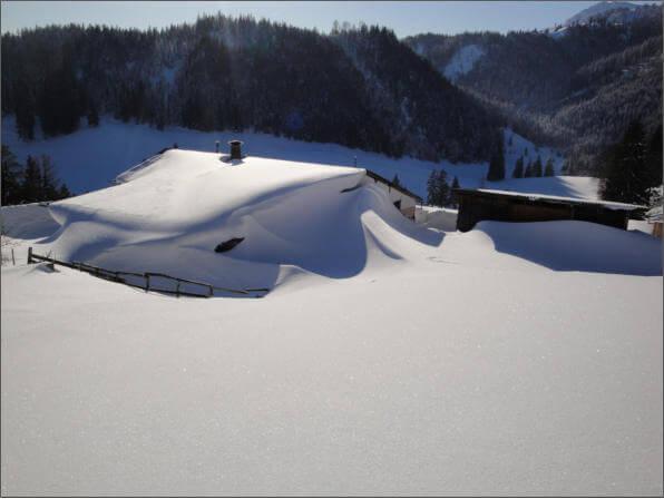 Unsere Alm auf dem Buchackerberg - Winter 2012