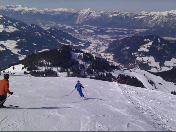 Skifahren auf der Hohen Salve